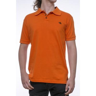 Tricou Polo portocaliu - bumbac 100%