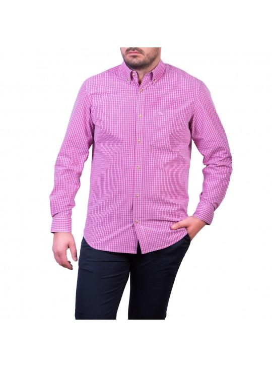 Camasa cu mâneca lunga, carouri,  roz/pink – alb