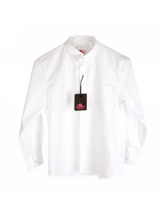 Camasa cu mâneca lunga, albă, bumbac 100%