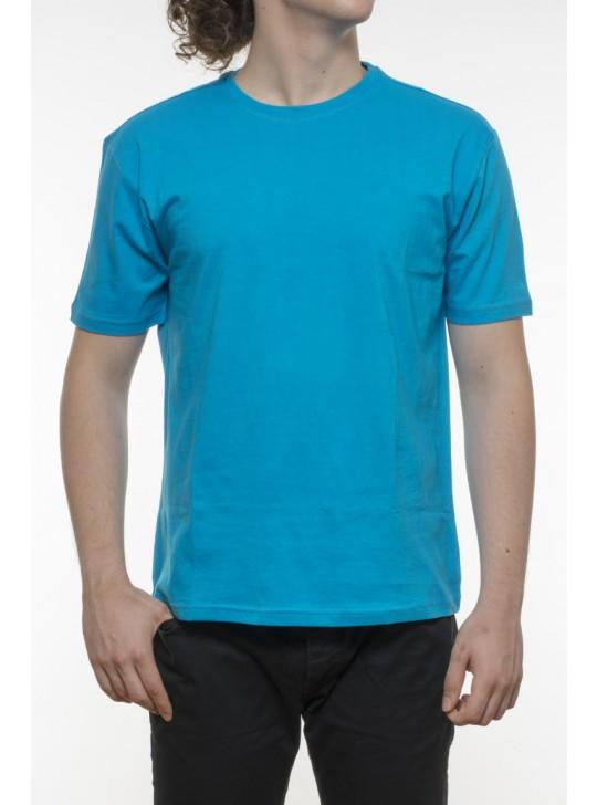 Tricou bărbați, bumbac 100% - albastru